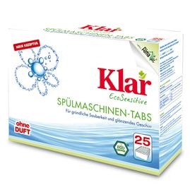 09.17.06 Klar Spülmaschinen Tabs 500 g 25 Tabs Faltkarton, Waschen und Reinigen