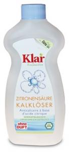 09.19.33 Klar Zitronensäure Kalklöser 0,5 l Flasche, Waschen und Reinigen